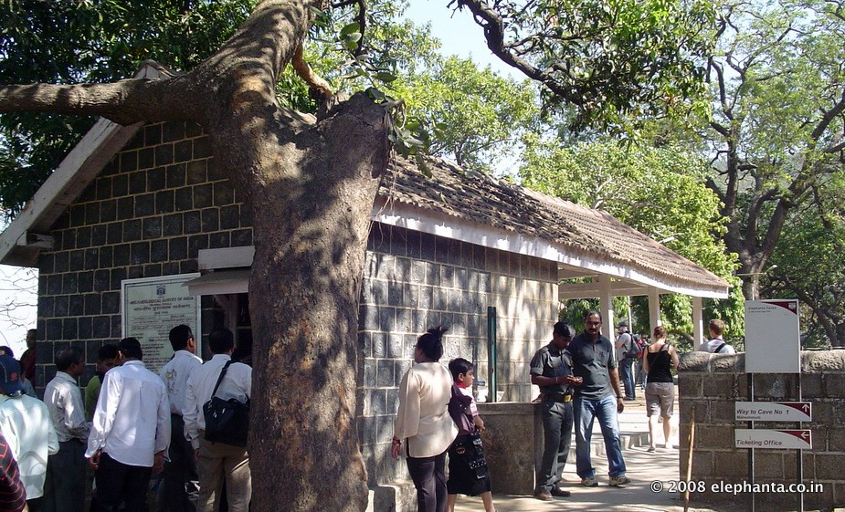 ASI Ticket Counter in Elephanta Island