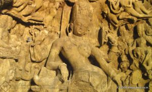 Ardhanari image at Elephanta