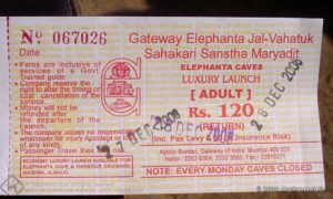 The ferry tickets to Elephanta is sold at a kiosk near the ferry point adjacent to the Gateway of India
