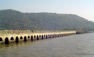 The pier that connects the Elephanta Island with the ferry point.