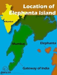 Elephanta is located 9 nautical miles off Mumbai city.