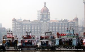 Taj Mahal Hotel as seen on the way back from Elephanta Caves