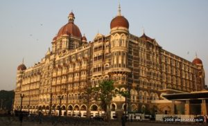 The heritage wing of the Taj Mahal Hotel.