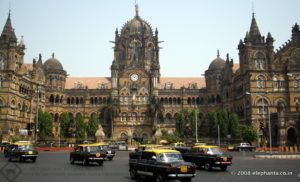 The legendary Chhatrapati Shivaji Terminus (CST) and the equally legendary Mumbai Taxis !