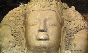 The Thirumurthy image at Elephanta Caves