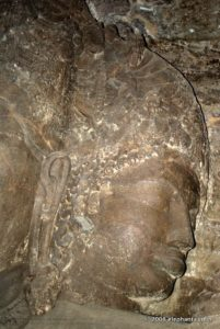 Vamadeva Uma face of Shiva as Trimurti in Cave 1