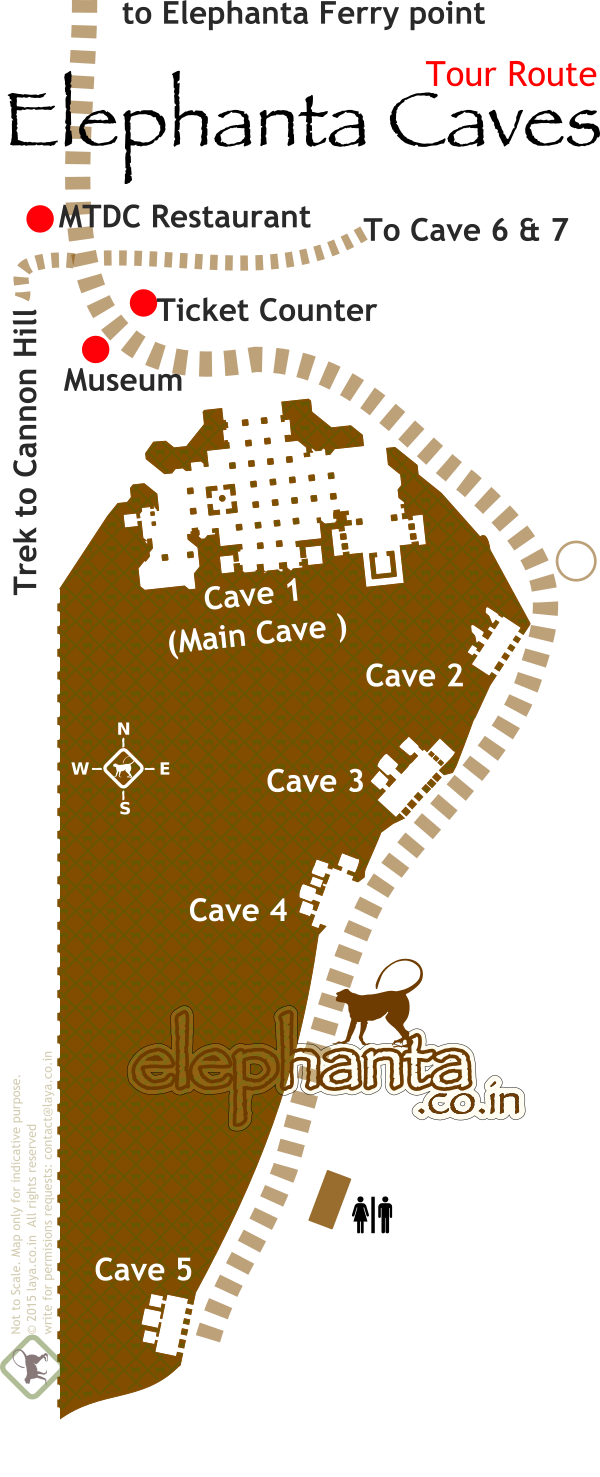 Elephanta Caves Tour Map