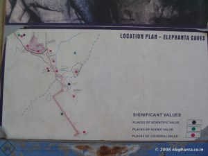 Elephanta site Map
