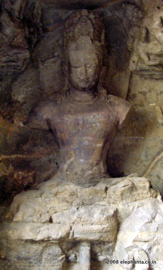Lakulish Shiva in Elephanta Cave 1