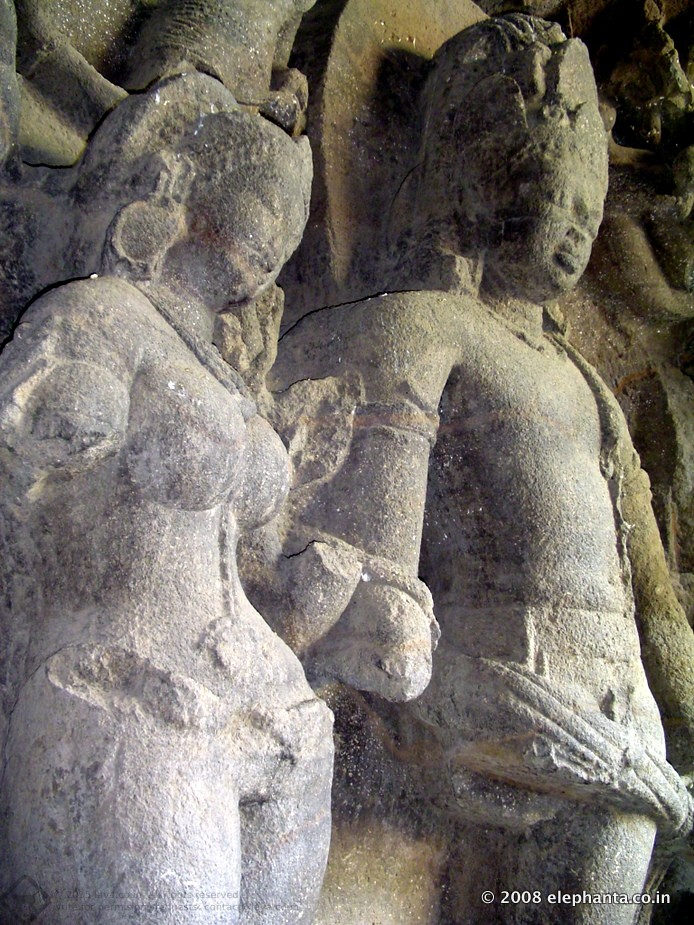 Marriage of Shiva and Parvati at Elephanta Cave 1