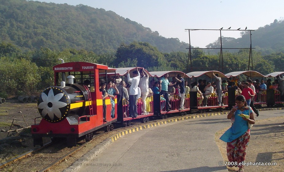 Toy Train in Elephanta Island