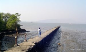 old landing pier in Elephanta